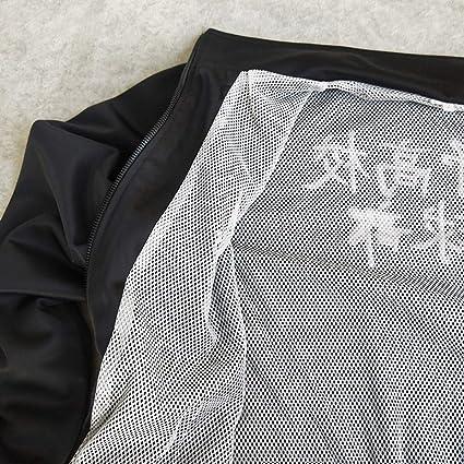 RuanYF Costume Cosplay di Haikyuu Pantaloni Giacca Uniforme Karasuno Team Giacca a Vento Tuta Sportiva Set Giacca con Cerniera Anteriore Maglia per Uomo