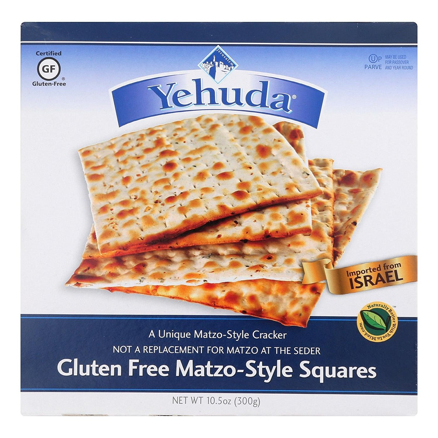Yehuda Gluten-Free Matzo Squares Toasted Onion 10.5 Ounce (3 Pack)