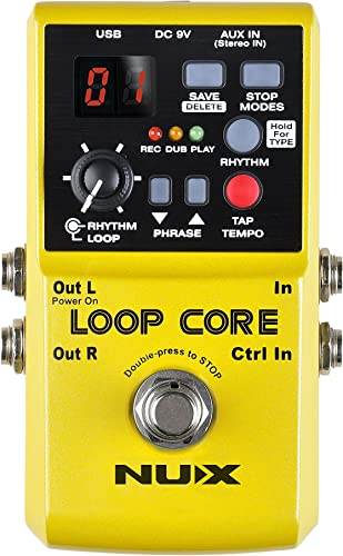 Nux Loop Core Guitar Effect Pedal Looper 6 Hours Recording Time