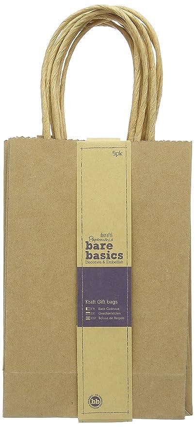docrafts Bare Basics Pequeño Kraft bolsas de regalo, 5 ...