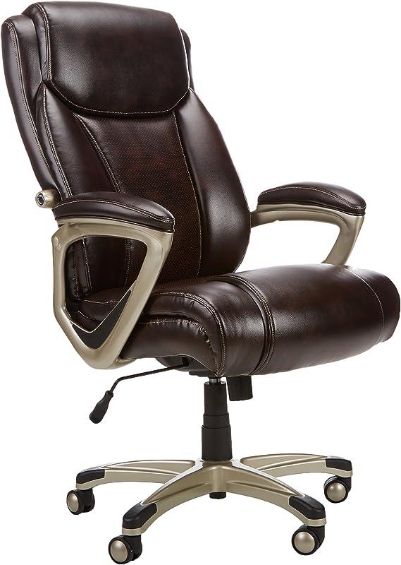 AmazonBasics Big & Tall Executive Computer Desk Chair - Adjustable with Armrest