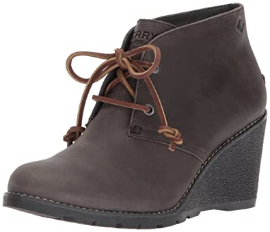 e20d672471eb Sperry Women s Celeste Prow Ankle Boot Grey 6.5 Medium US
