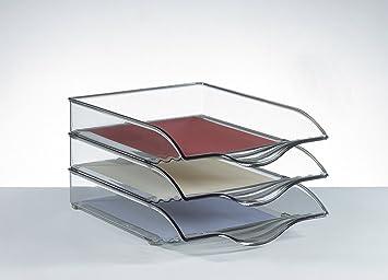 Novus CopyTray Single Tray Transparente - Bandeja de escritorio (Transparente, 351 x 264 x