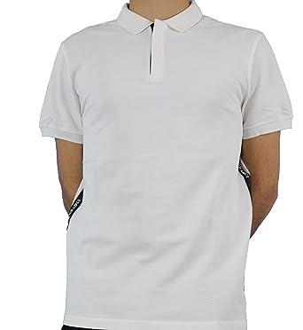 Armani Taped Side Short Sleeved Pique Polo XXL White: Amazon.es ...