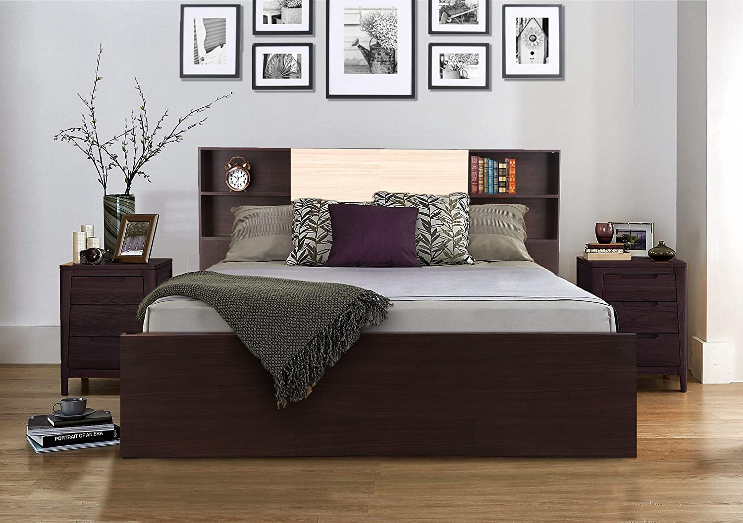 HomeTown Alysson King Size Engineered Wood Bed With Box