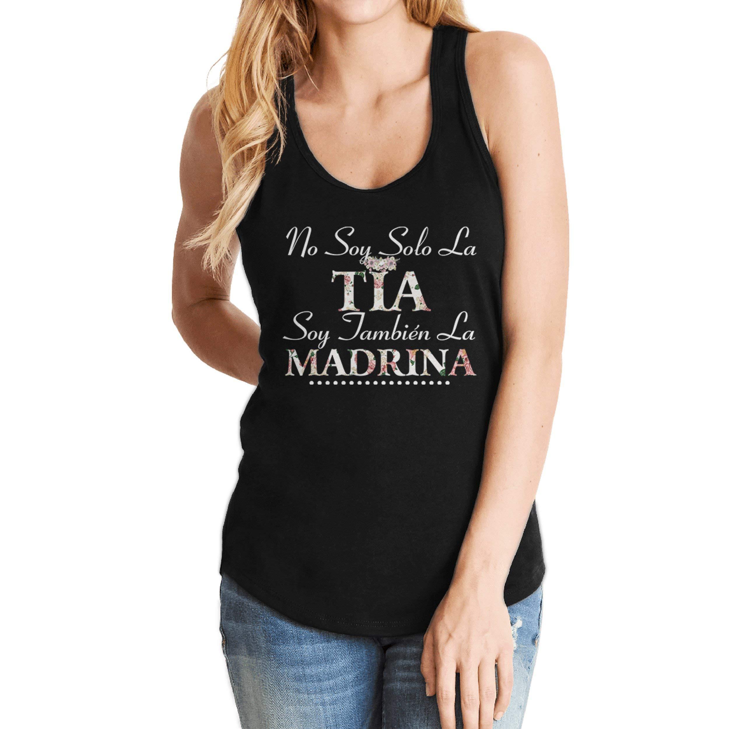 Yuh Apparel No Soy Solo La Tia Soy Tambien La Madrina Madre Tank Top Shirt 3094