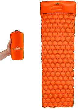 Colchoneta hinchable de Mountrex, estera aislante para camping, ultraligera y robusta, colchón de