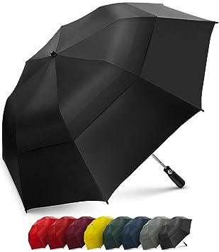 Paraguas Plegable EEZ-Y – Resistente al Viento – De Doble Cubierta – Apertura Automática