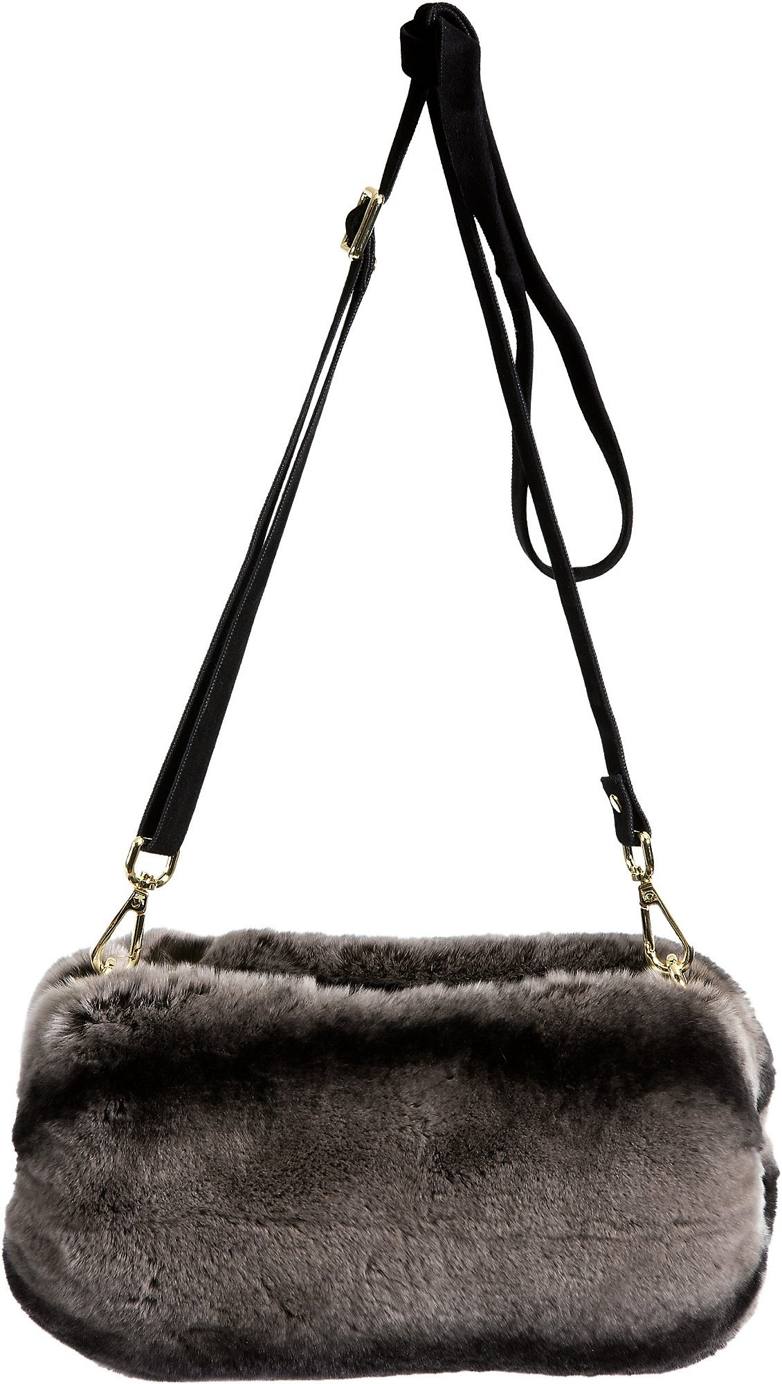 Rex Rabbit Fur Crossbody Muff Clutch by Overland Sheepskin Co