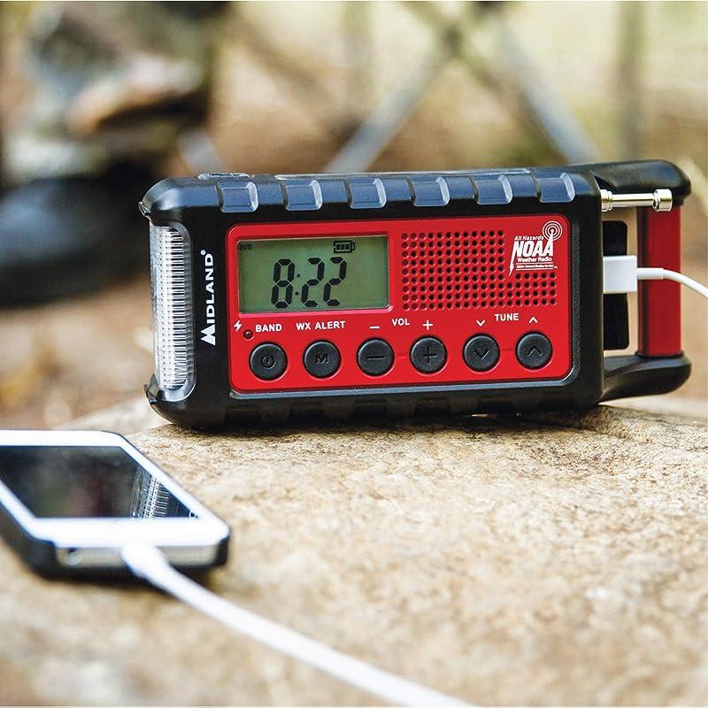 Midland - ER310, Emergency Crank Weather AM/FM Radio - Multiple Power Sources