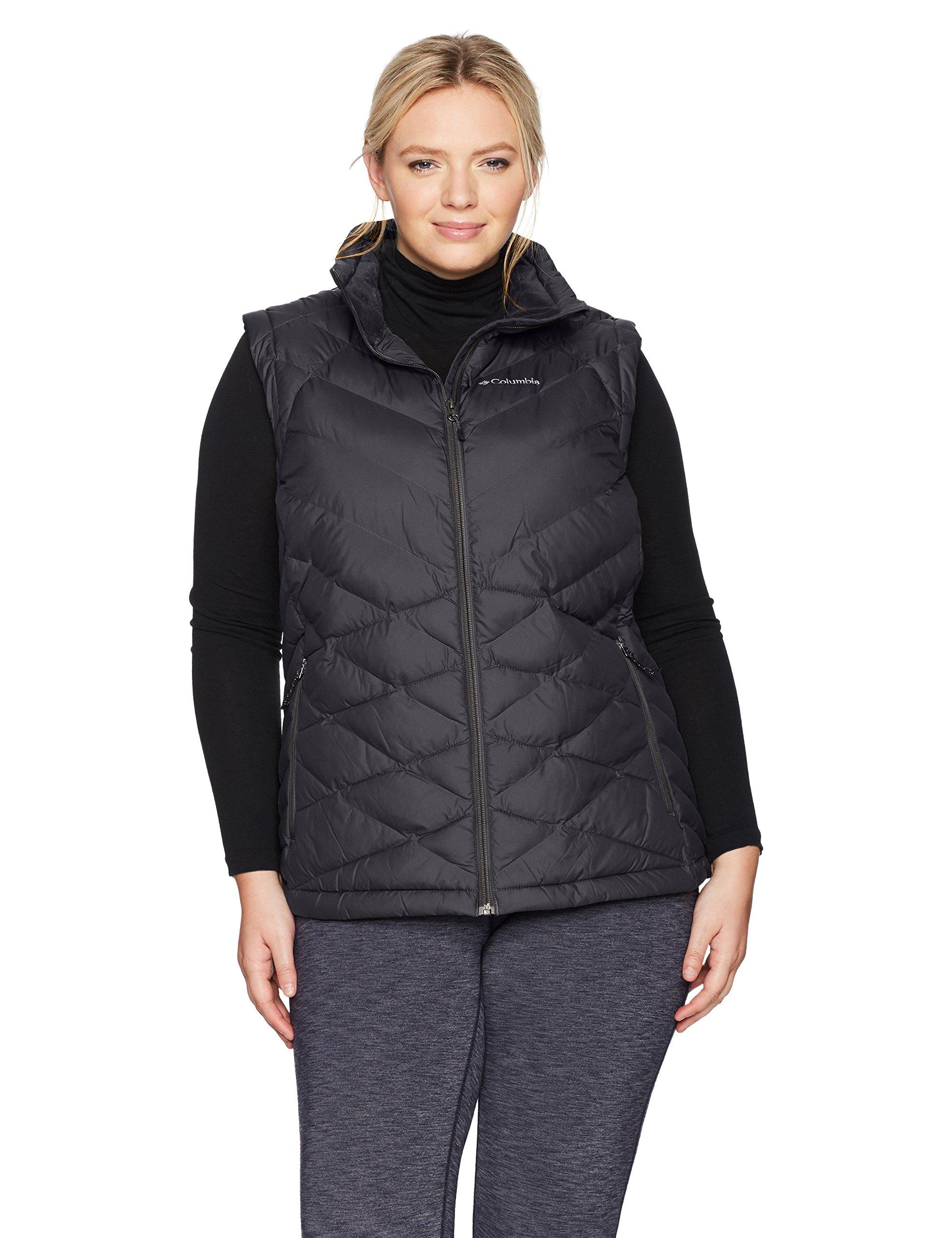 Columbia Women's Plus Size Heavenly Vest, Black, 1X