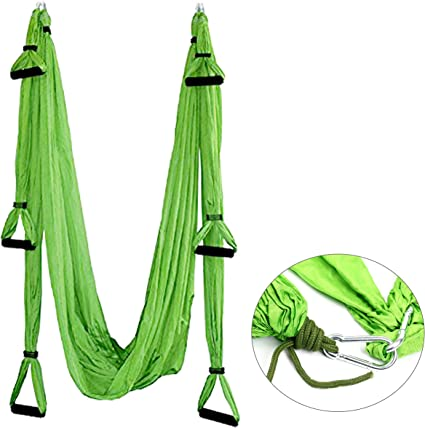 Yaegoo Aerial Yoga Swing Set - Yoga Hammock Swing -Wide Flying Yoga Inversion Tool - Antigravity Ceiling Hanging Yoga Sling - Women Men Kids Arial ...