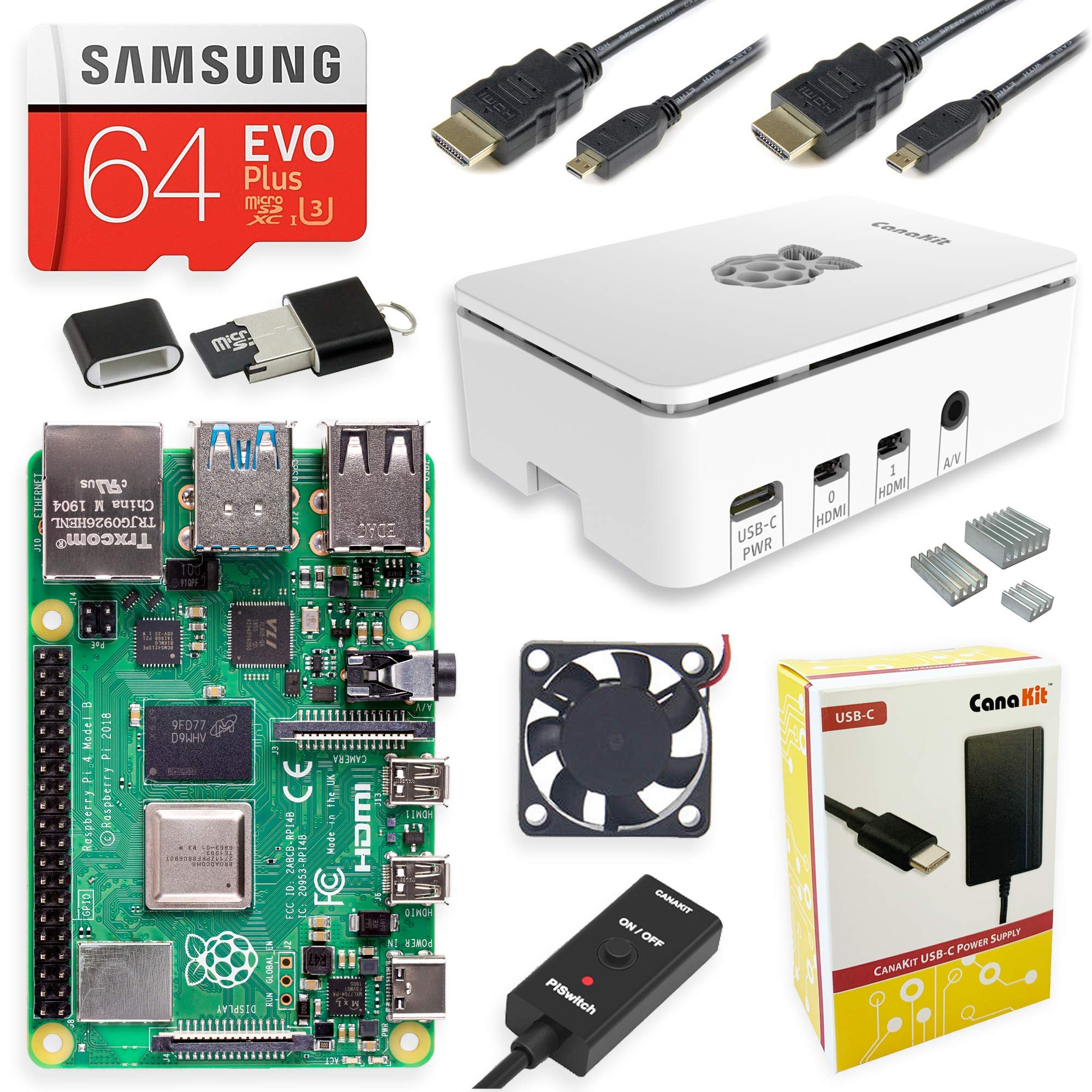 CanaKit Raspberry Pi 4 4GB Starter MAX Kit - 4GB RAM by CanaKit