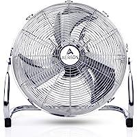 AERSON vloerventilator 30 cm   waaier met drie standen 55W   staande ventilator   hoge luchtstroom   robuuste metalen…
