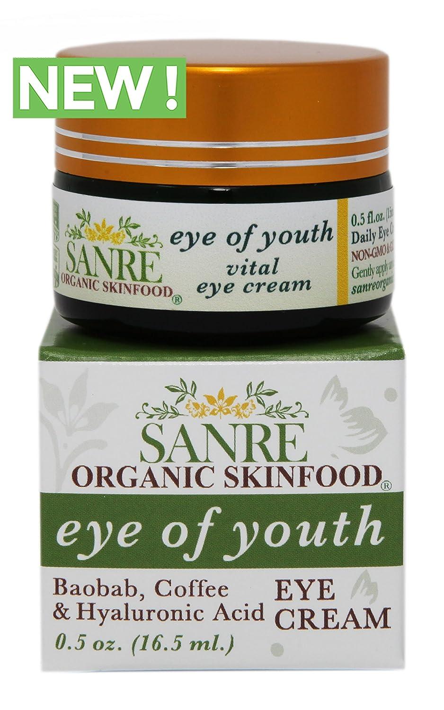SanRe Organic Skinfood - EYE OF YOUTH - Anti-Aging Eye Cream - Holistic, Non-GMO & Gluten Free