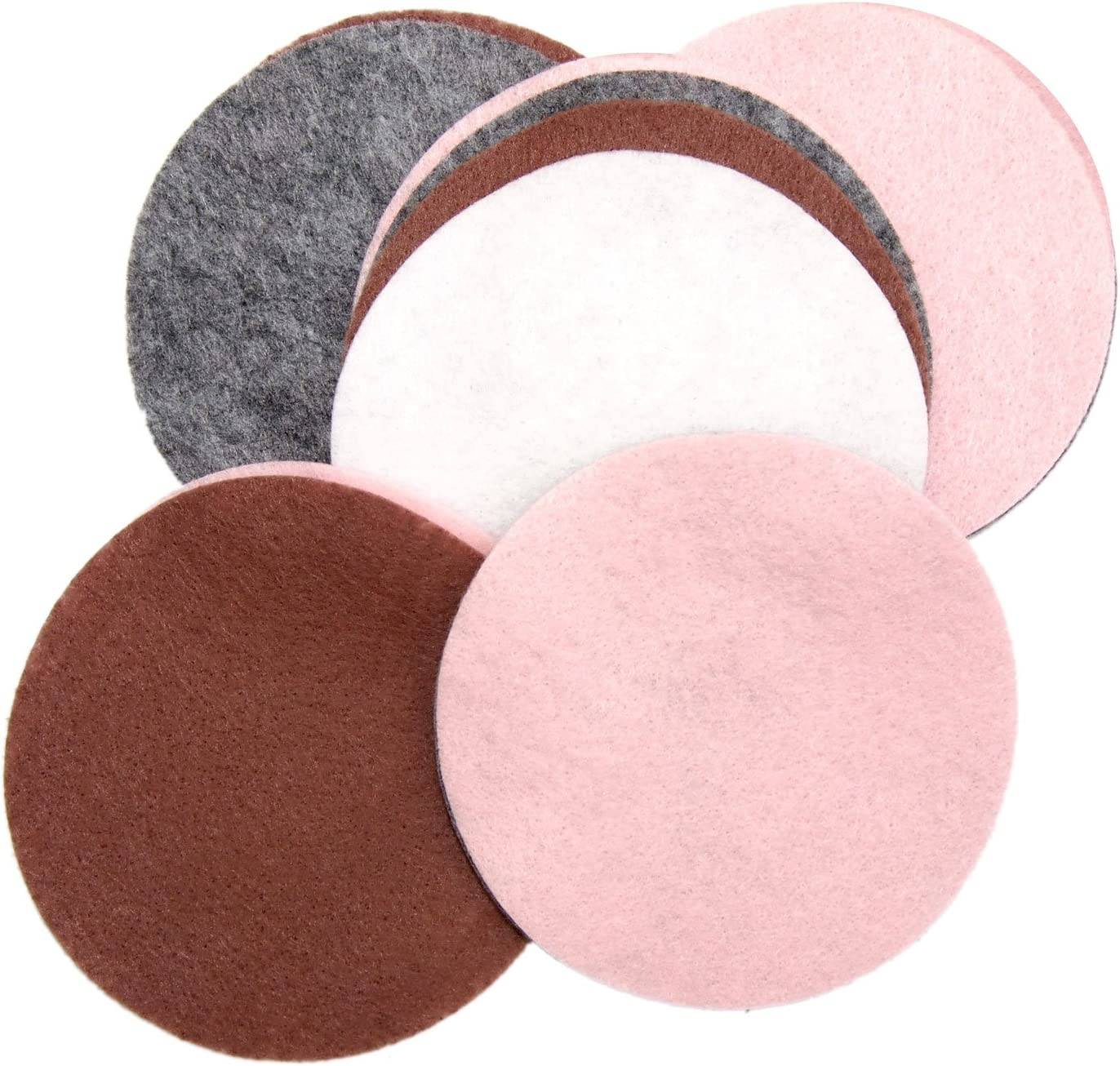 Light Pink 2.5 Inch - 48pc Red /& White Craft Felt Circles Playfully Ever After Pink