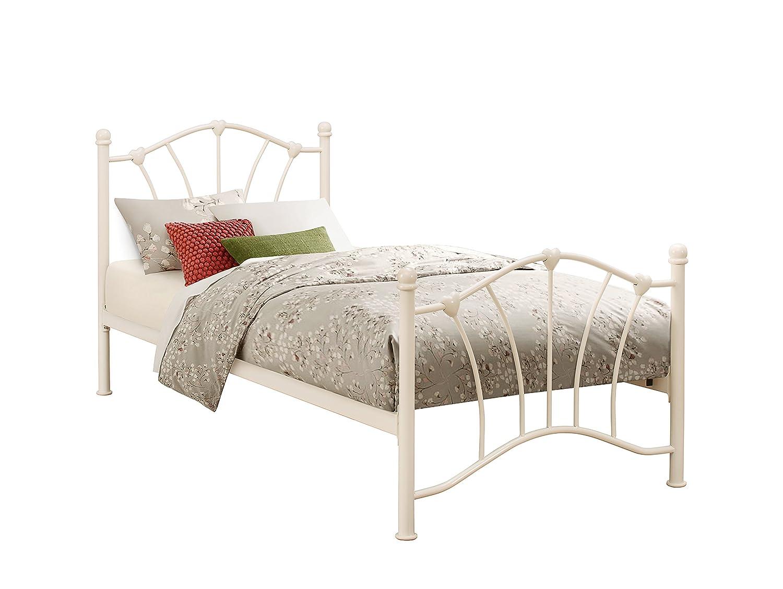 Birlea Sophia Bed - Metal, Cream, Single: Amazon.co.uk: Kitchen & Home