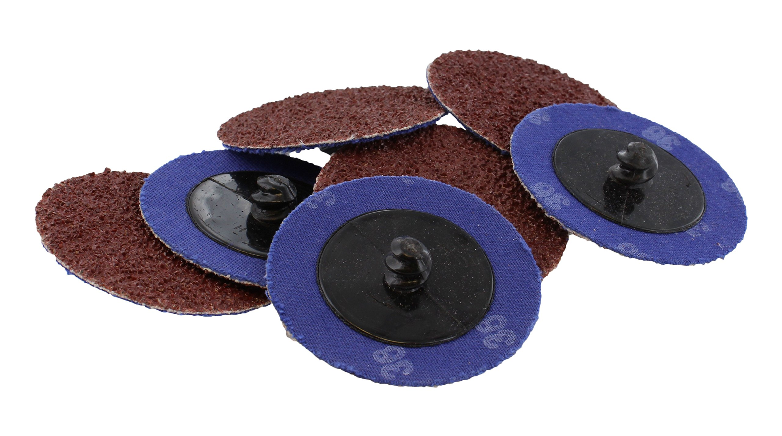 """ABN Aluminum Oxide Roloc Abrasive Sanding Discs 50-Pack, 2"""" Inch, 36 Grit – Metal Wheels for Surface Prep and Finishing"""