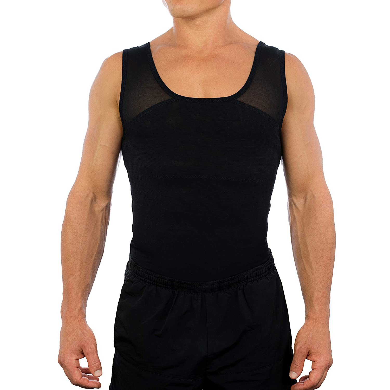 Esteem Apparel Original Men's Chest Compression Shirt to Hide Gynecomastia Moobs