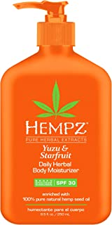 product image for Hempz Yuzu & Starfruit Daily Herbal Lotion with Broad Spectrum SPF 30 - Fragranced, Paraben-Free Sunscreen and Moisturizer with 100% Natural Hemp Seed Oil for Women - Premium Skin Care Products