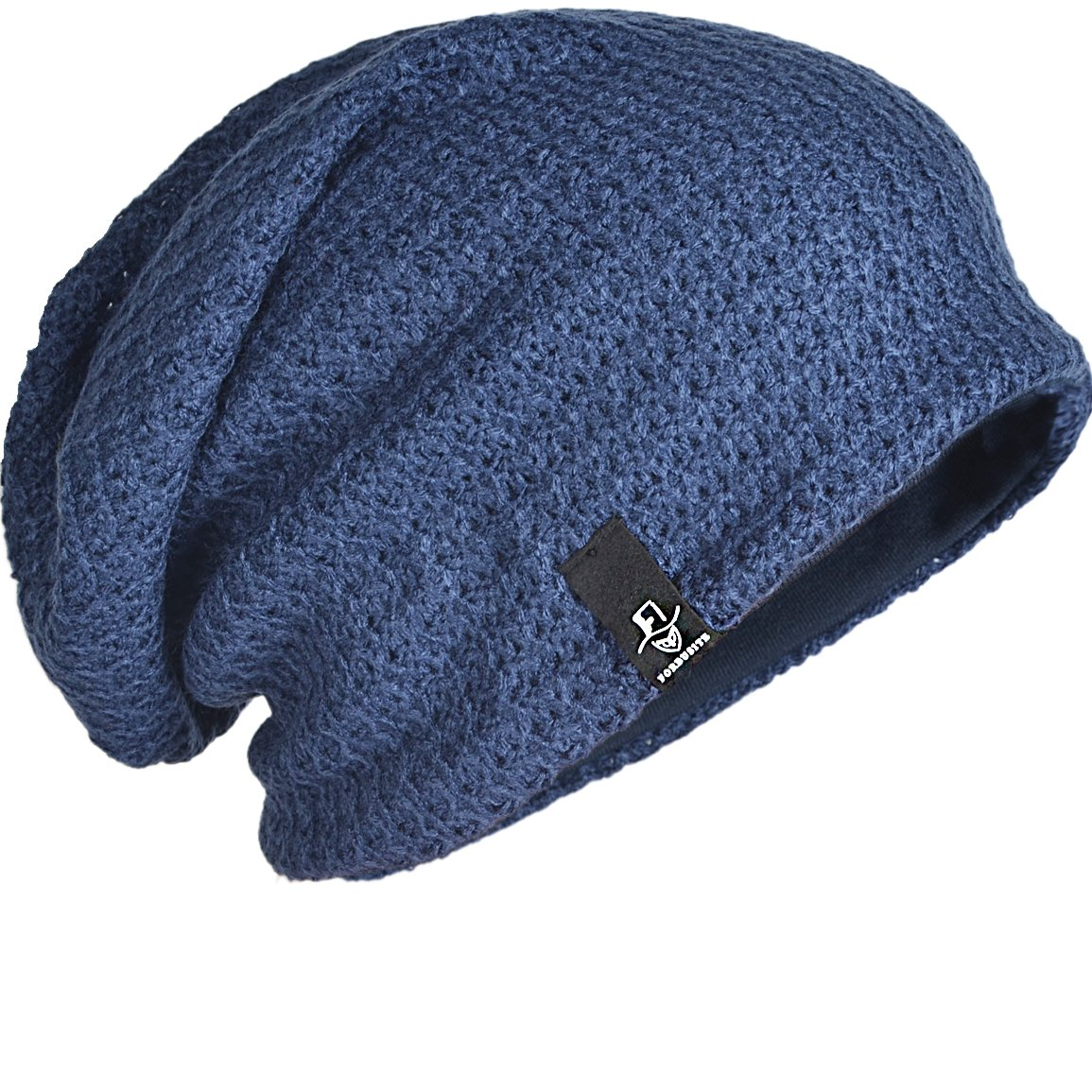 FORBUSITE Mens Slouchy Long Oversized Beanie Knit Hat for Summer Winter B08 B08b-B308-BN