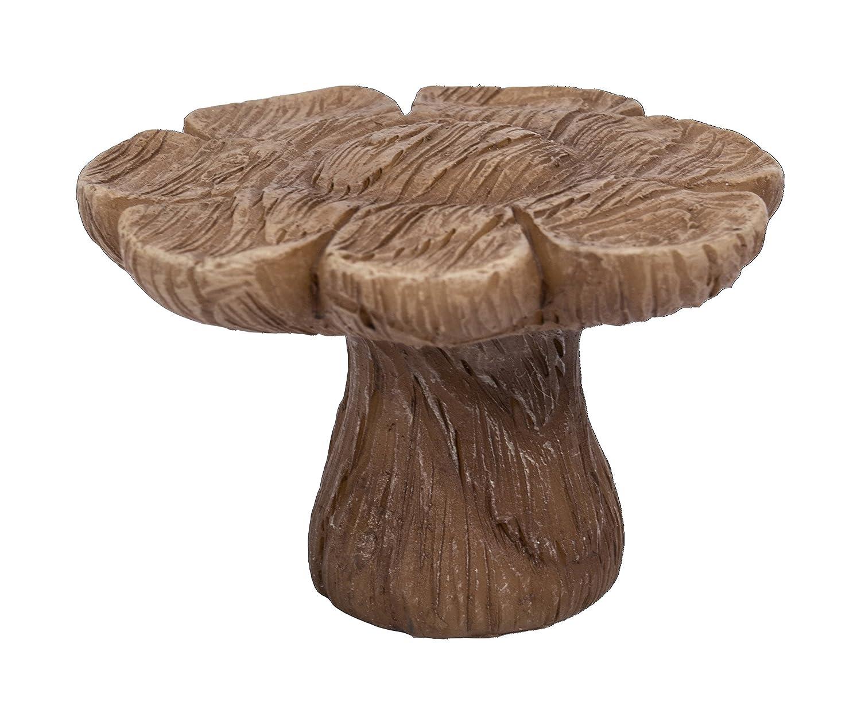 Miniature World MW03-001 Mini Deko-Tisch aus Kunstharz in Holzoptik, Blumen-Motiv, Braun Vivid Arts