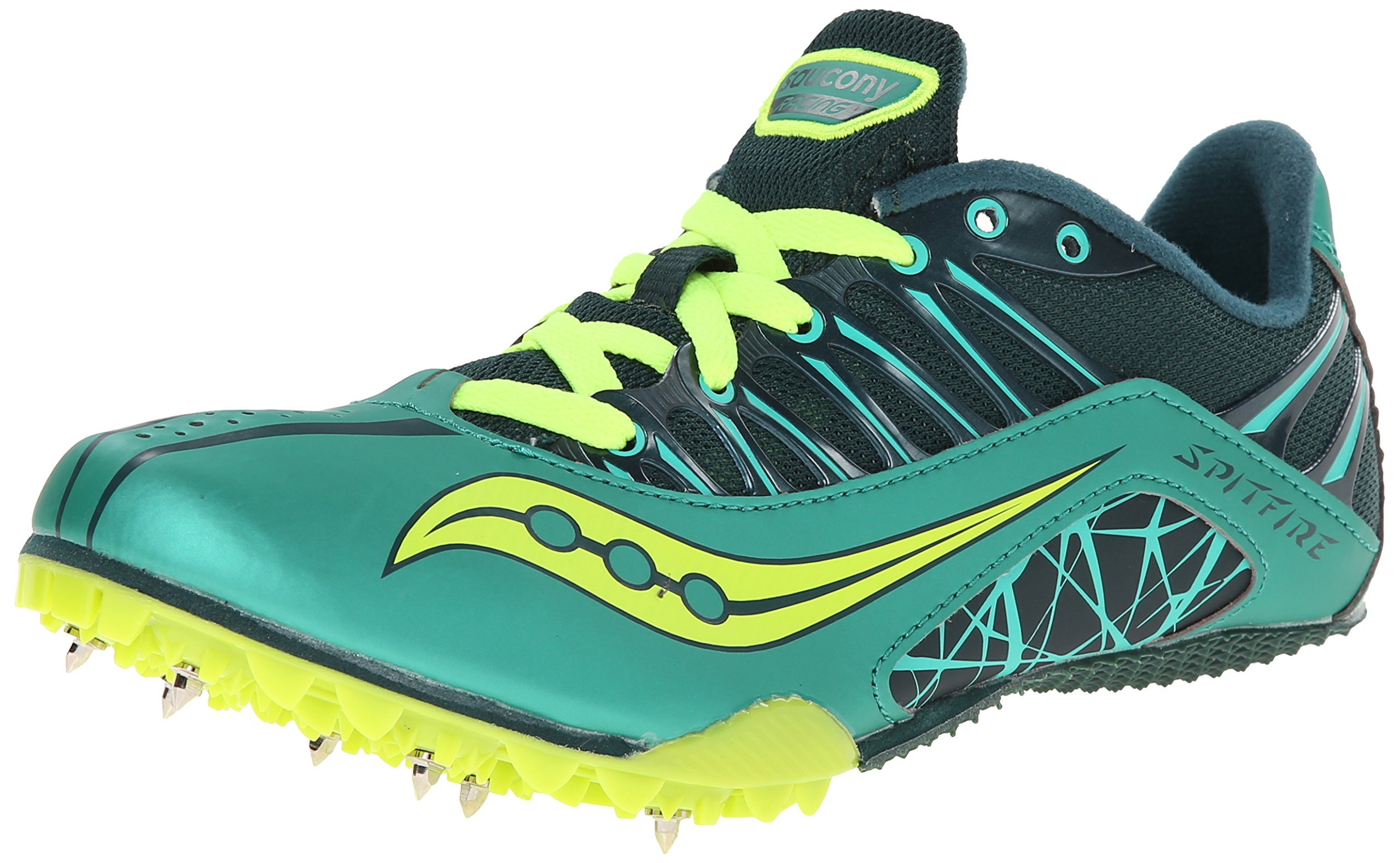 Saucony Women's Spitfire Track Spike Racing Shoe,Green/Citron,12 M US