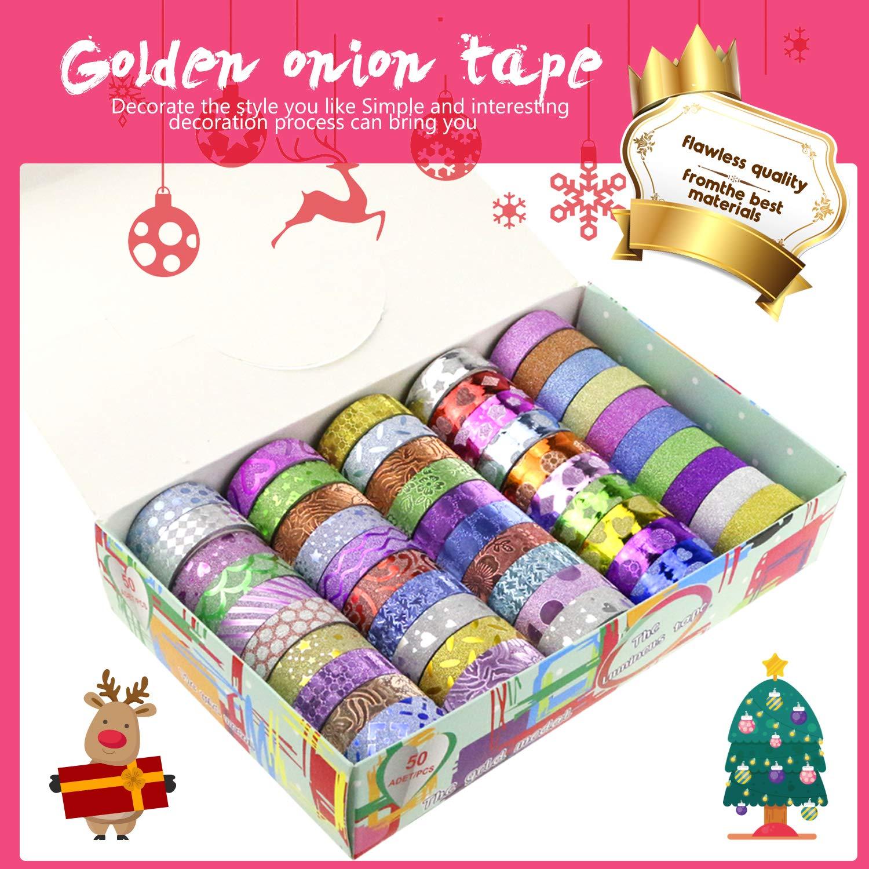 Washi Tape,Emooqi 50 Rollos Decorativo de Washi Tape Cintas Adhesivas Kawaii Diseño Creativo Cintas Adhesivas Cinta de Papel Para Envoltura de Regalo ...