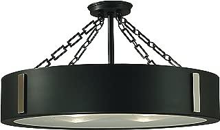 product image for Framburg 2416 RB/EB 4-Light Oracle Flush/Semi-Flush Mount, Roman Bronze/Ebony