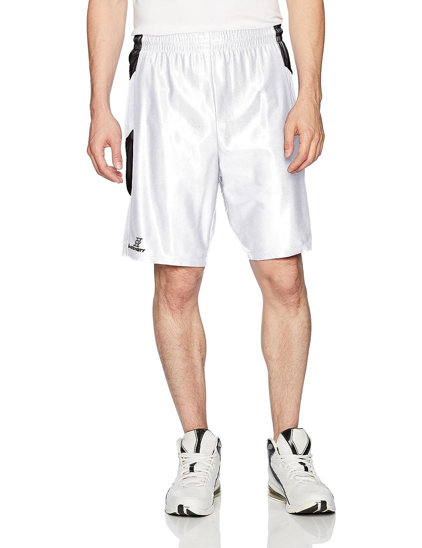 強度メンズDazzle Chevronバスケットボールショーツ B0753KBZQS Large|ホワイト/ブラック ホワイト/ブラック Large