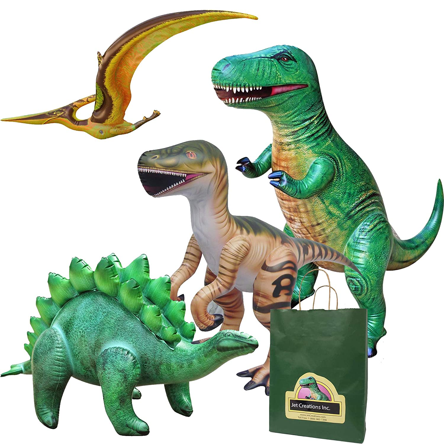 Amazon.com: Jet Creations 4-pk Dinosaurios inflables Combo ...
