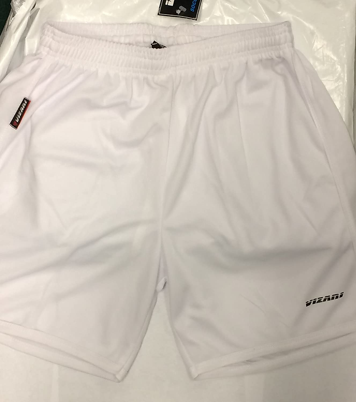 Vizari Men 's Town Soccer Shorts (ホワイト) M B06X3ZPN8X