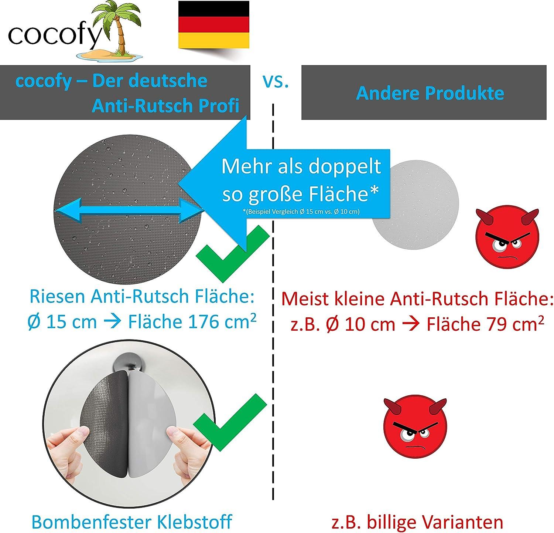 cocofy Gro/ße Anti-Rutsch Sticker f/ür Dusche und Badewanne /Ø 15 cm XXL Pads blau Anti Rutsch Aufkleber auch f/ür Kinder | 2020 Einf/ührungsangebot rund