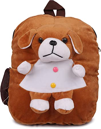 Toyswala Kids School Bag Soft Plush Backpack Cartoon Toy, Childrens Gifts Boy Girl/Baby/ Decor School Cute Angry Dog Teddy School Bag
