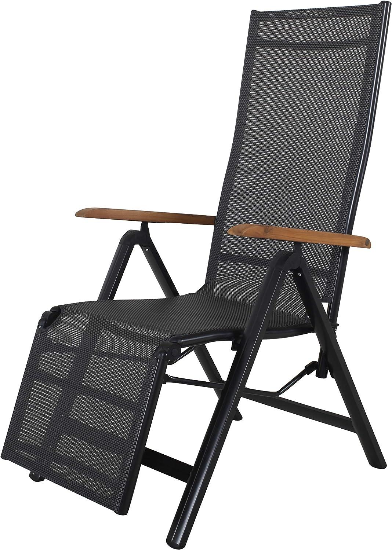Strandgut Chaise Longue Noir
