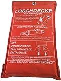 Löschdecke Brandschutzdecke 1x1 m nach DIN EN 1869 Feuerlöschdecke (1)