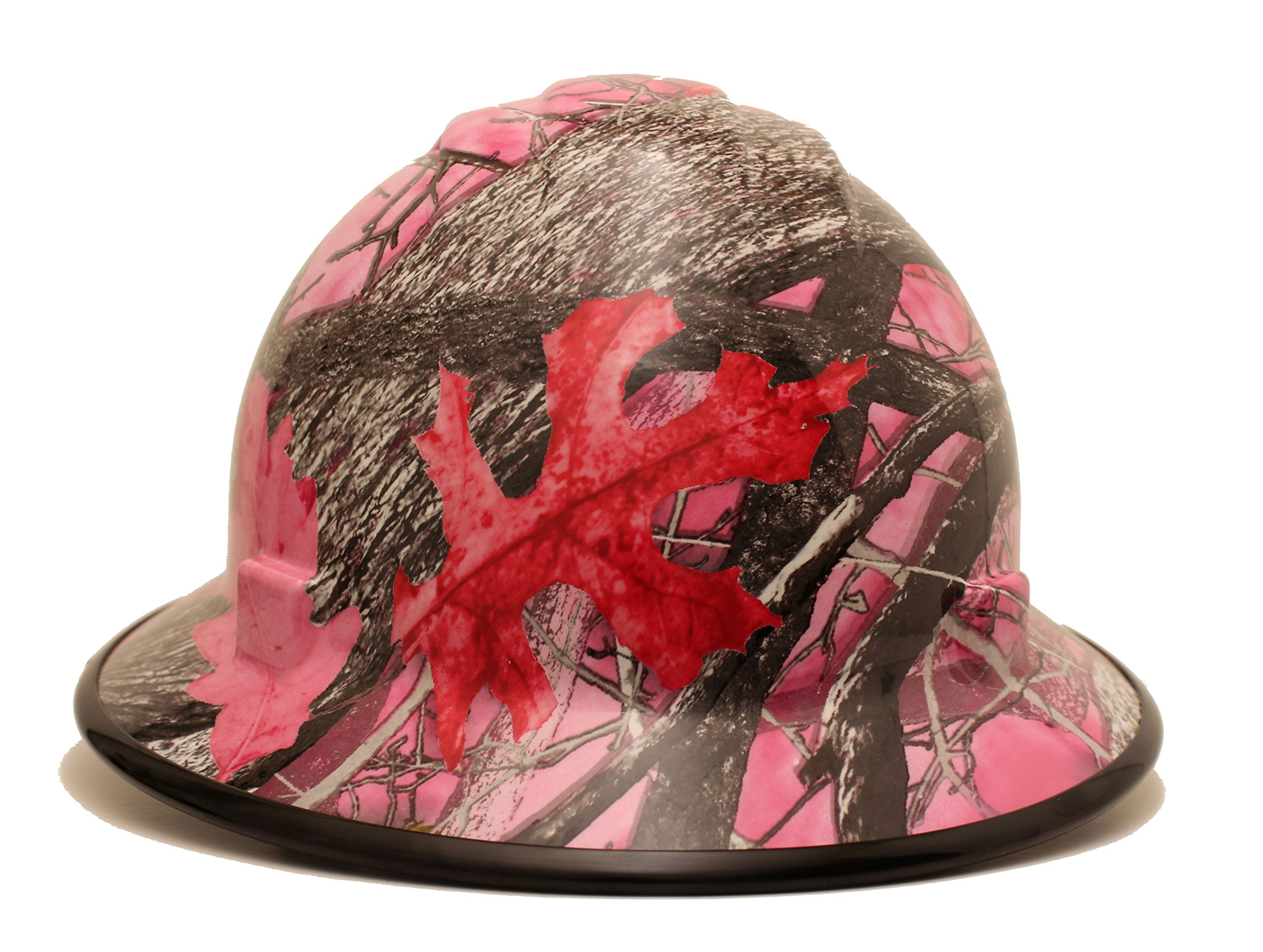 HardHatGear Custom Hydro Dipped VENTED Full Brim Hard Hat in Pink Camo - Made in USA