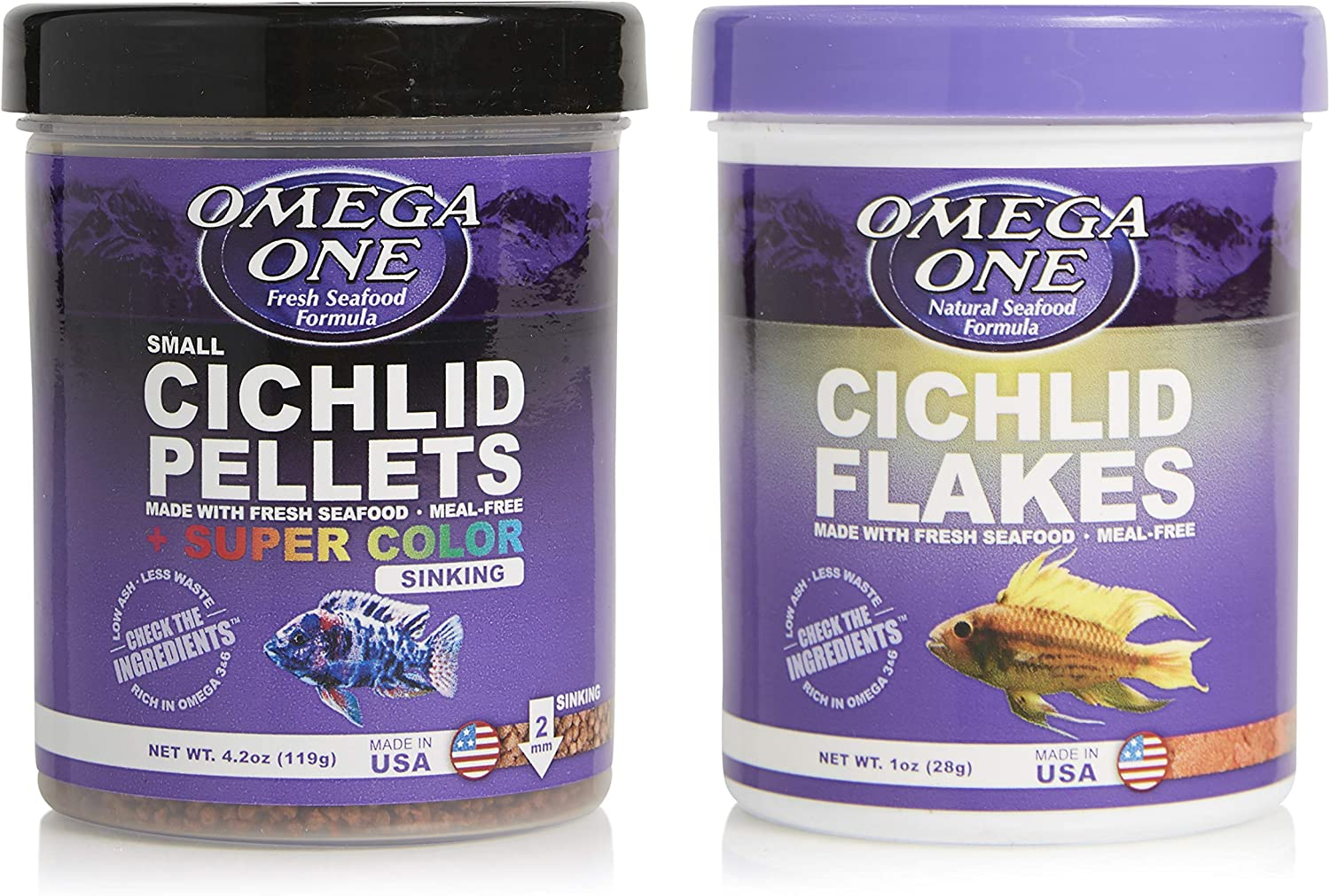 Omega One Cichlid Combo, Variety Pack of 2