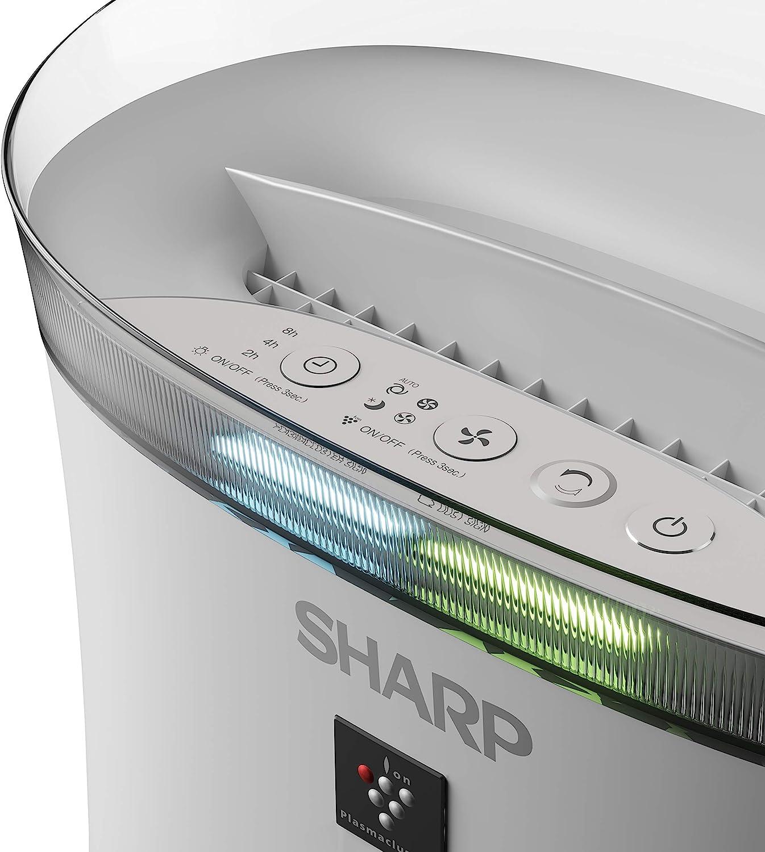 funci/ón humificador olores y HEPA humedad y temperatura sensor de/ polvo hasta 26 m2 Sharp UA-HD40E-L Purificador de aire con tecnolog/ía Plasmacluster-Ion tres niveles de filtro: prefiltro