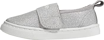 Toddler Girls Canvas Glitter Sneakers Closure Comfort Slip-On Shoes
