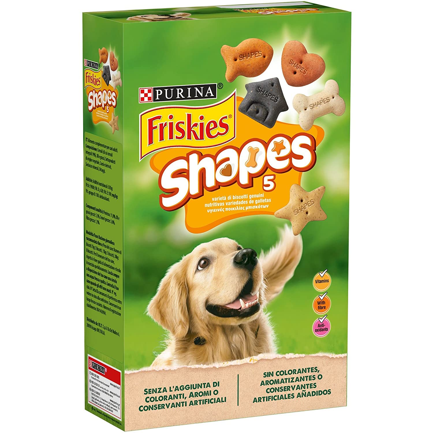 Purina Friskies Shapes galletas para perros 6 x 800 g: Amazon.es: Productos para mascotas