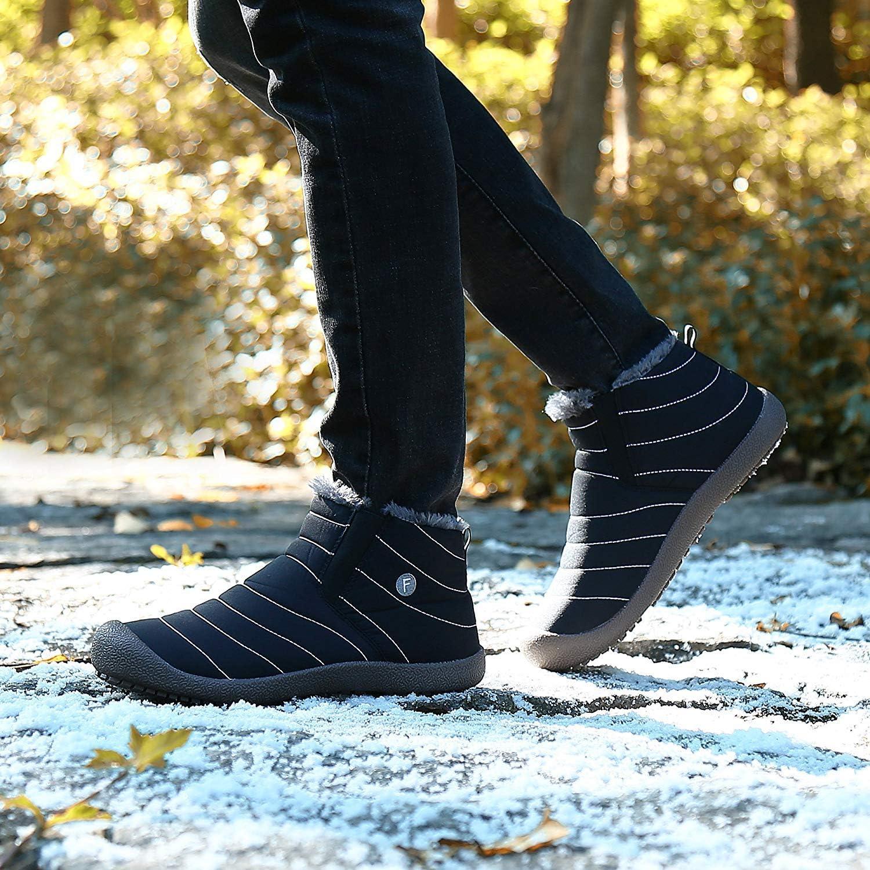 Uomo Donna Stivali da Neve Outdoor Caldo Scarpe Piatto Bambino Invernali Scarpe Allineato Pelliccia Caloroso Caviglia Stivaletti Sportive Boots Impermeabile Boots da Ragazzo Ragazza EU 28-48