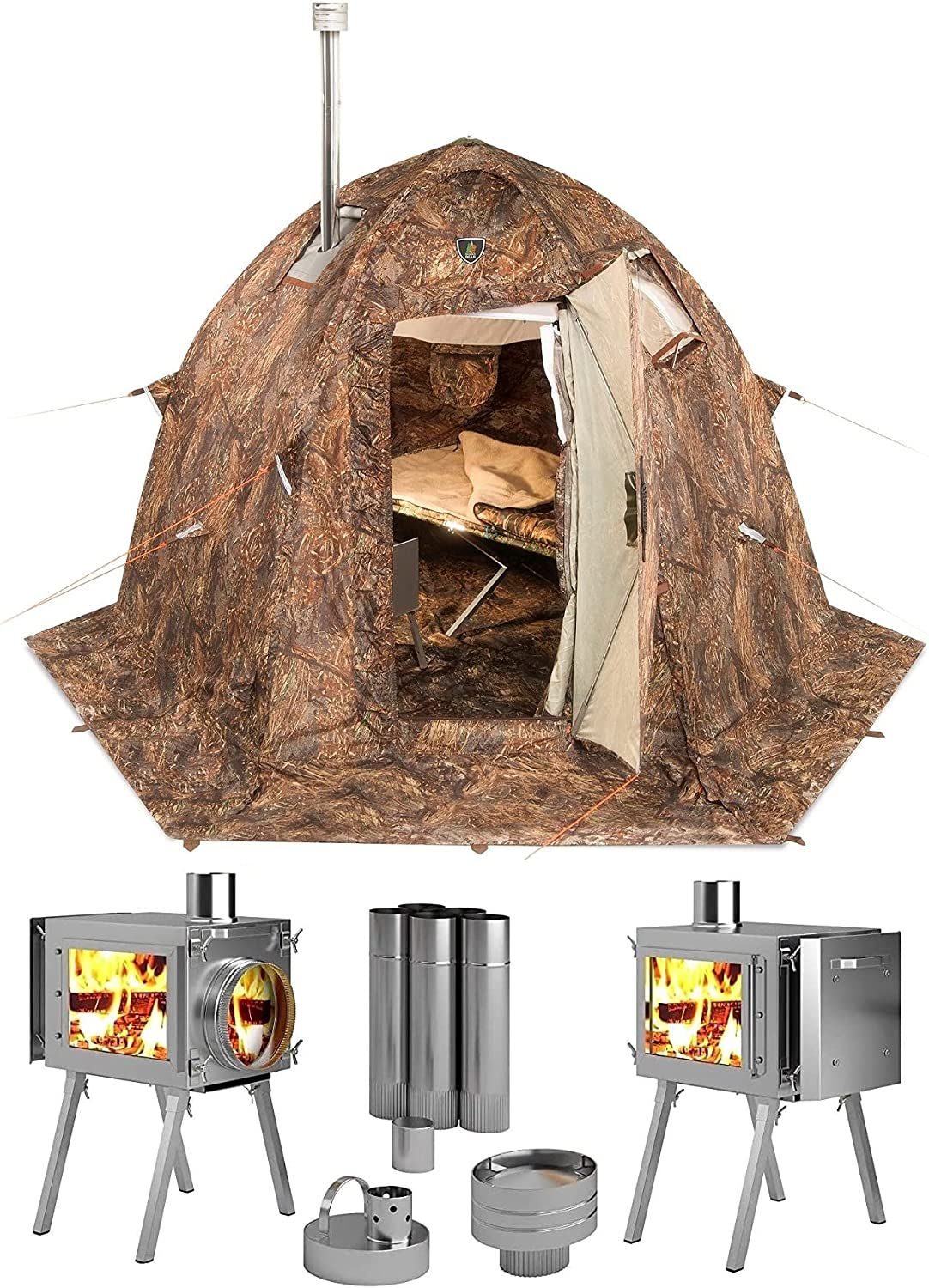 Russian Bear Winter Tent With Stove Pipe- Cold Weather Tents With Stoves [