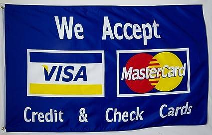 We Accept Visa MasterCard - Cartel para tarjetas de crédito ...