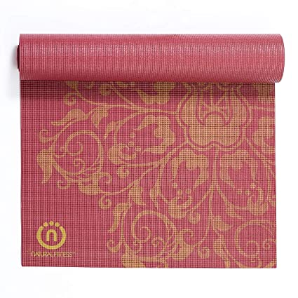 Natural Fitness Eco-Smart Yoga Mat (Burgundy, 24 x 69-Inch x 6-mm)