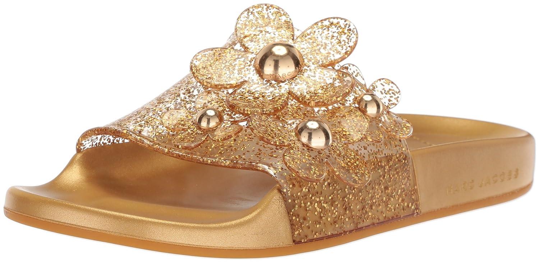 Marc Jacobs Women's Daisy Aqua Slide Sandal B075Y66KL4 35 M EU (5 US)|Gold