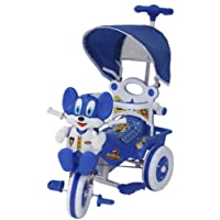 Amardeep and Co Baby Tricycle with Shade and Parental Control, 86x64x33 cm, Blue