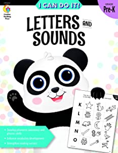 Creative Teaching Press I Can Do It! Letters and Sounds Preschool Activity Workbook, 8721