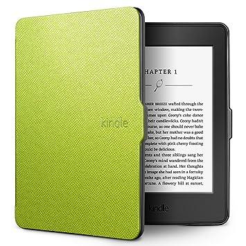 SLEO Funda Kindle Paperwhite 3 Cubierta de Cuero Cover Slim Ligera ...