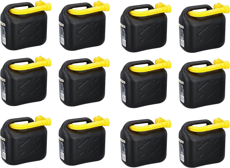 12x Kraftstoffkanister 5l Benzinkanister Diesel Reserve Kanister Für Auto Roller Baumarkt